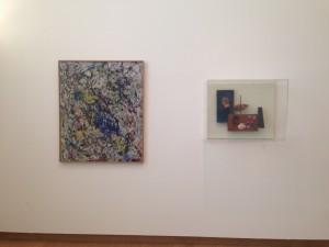 Jackson Pollock Reflection on the big dipper, 1947 Pintura sobre lienzo Joan Miro Objeto, 1931 Madera, corcho, pintura, cable, concha y goma