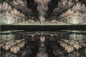 Vista de la exposición de Yayoi Kusama. Galería Victoria Miro, Londres.